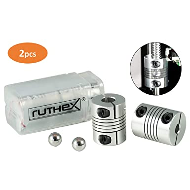 ruthex impresora 3D acoplamiento 5x8mm V6 [2 piezas] con 2 bolas ...