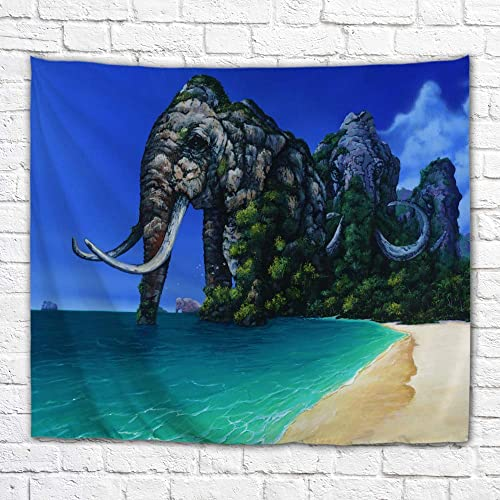 Imagination of Robert Walker Migration of Mountains Elephant Island Large Art Tapestry