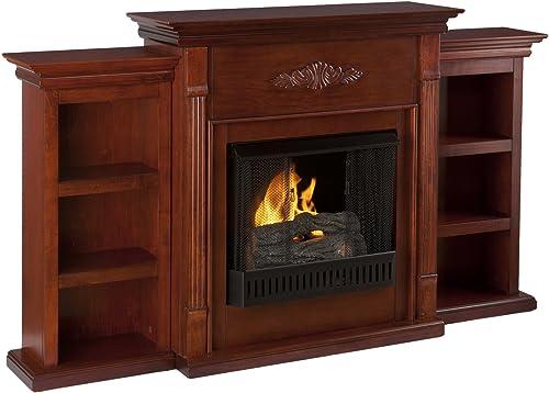 Southern Enterprises Tennyson Mahogany Gel Fireplace