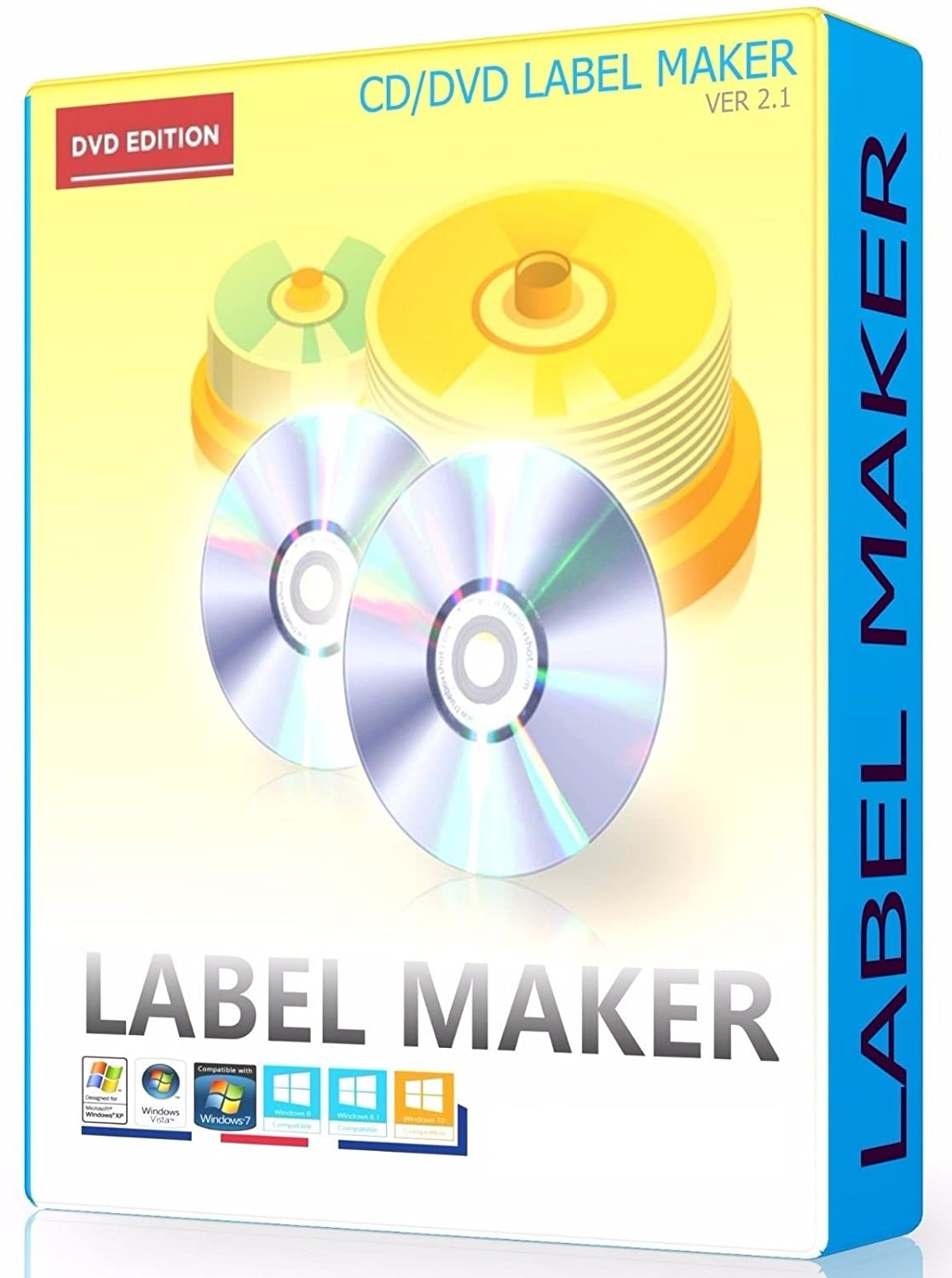 CD DVD LABEL MAKER CREATOR DESIGN AND PRINT DISC CD COVERS