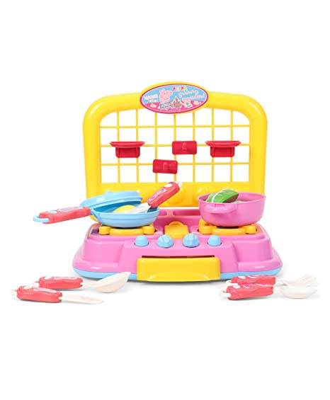 My Baby Excels Kitchen Playset For Children Of Age 3 To 8 Years Multi Color
