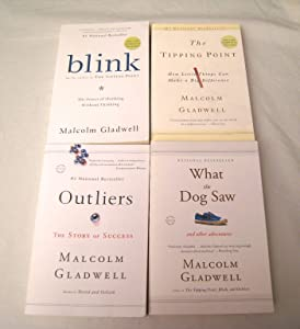 Malcolm Gladwell 4 Book Set: Blink, Tipping Point, Outliers, What the Dog Saw