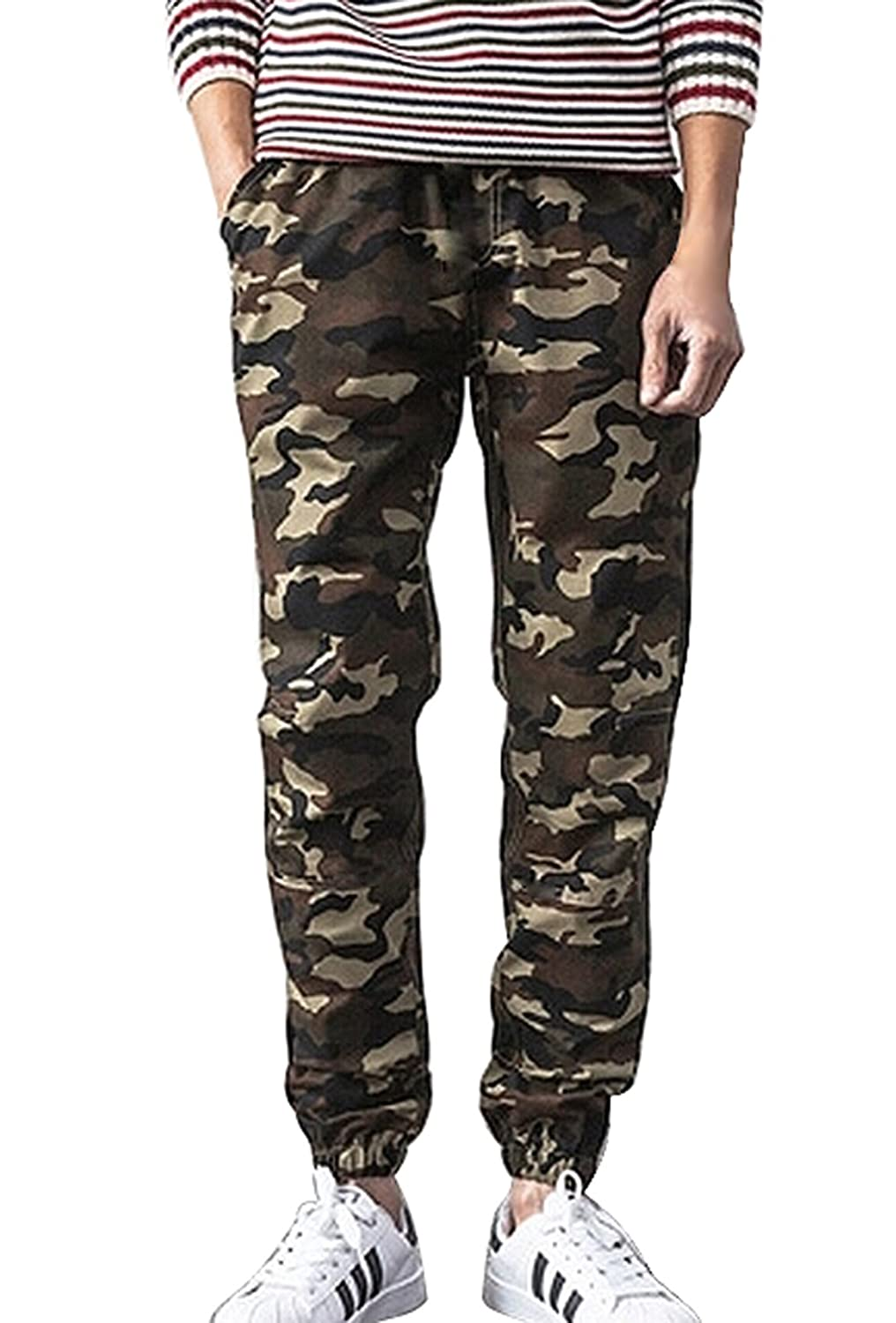 Muke Men's Classic Camouflage Cargo Pants Military Army Style Casual Trouser