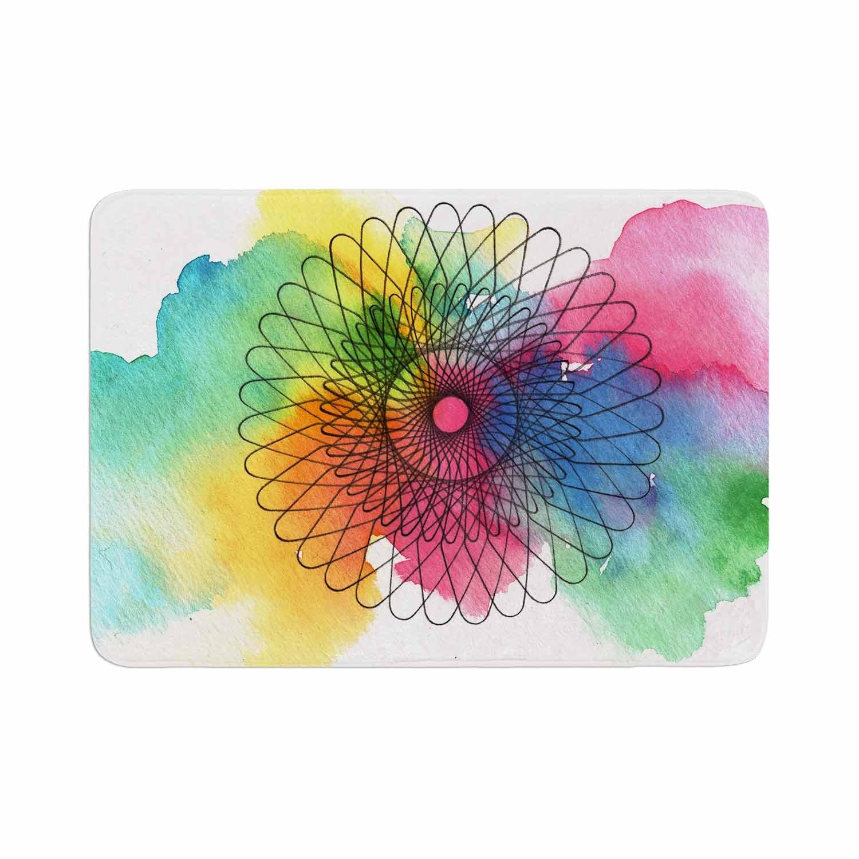 Kess InHouse Sonal Nathwani Rainbow Spiro Multicolor Round Beach Towel Blanket