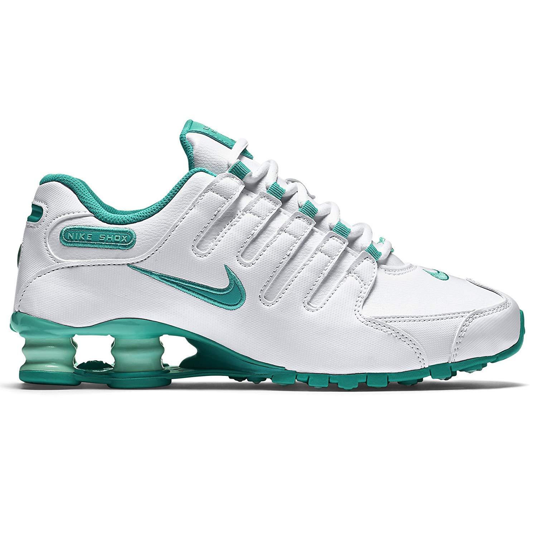 09cd530354d NIKE Shox NZ EU 488312-109 White Artisan Teal Light Retro Women s Running  Shoes Size  3.5 UK  Amazon.co.uk  Shoes   Bags