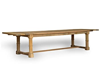 CDI Furniture The Reclaimed Collection Solid Wood Small Distressed Dining  Table With Sandblasted Finish
