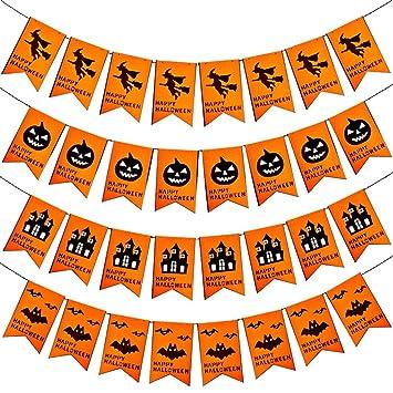 Amazon ハロウィン 飾り フラッグガーランド フェルト かぼちゃ 魔女