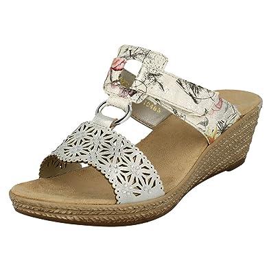Damen Rieker Keilabsatz Sandalen The Style 62427