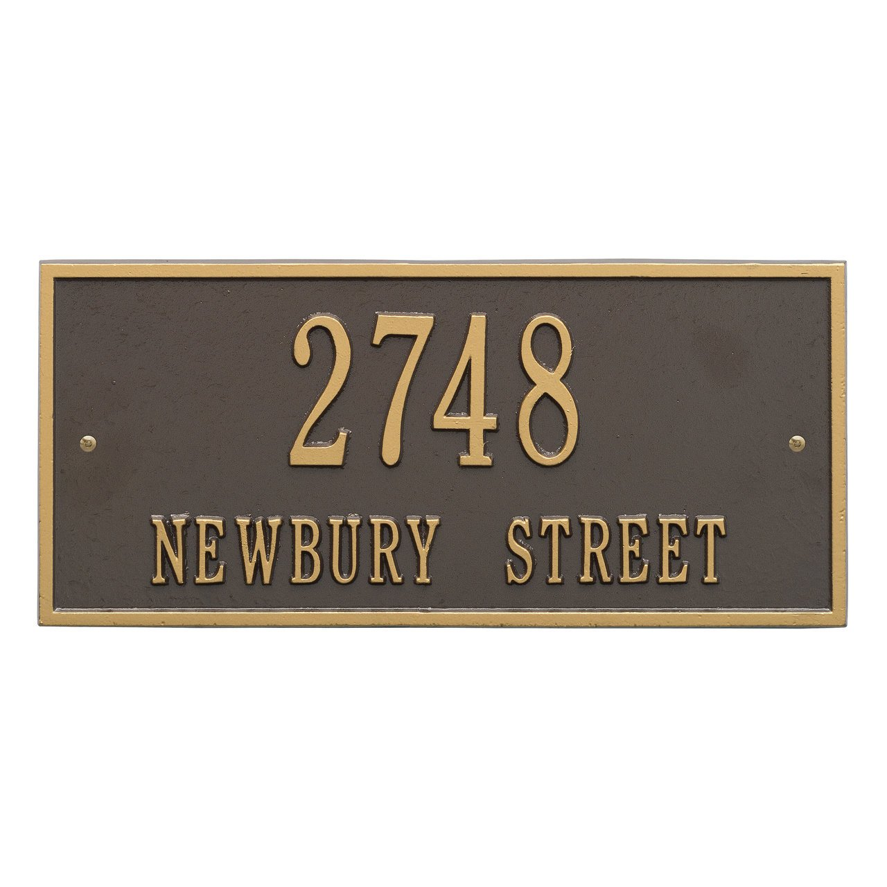Customized Harford Address Plaque 2 Lines 16'W x 7'H Whitehall