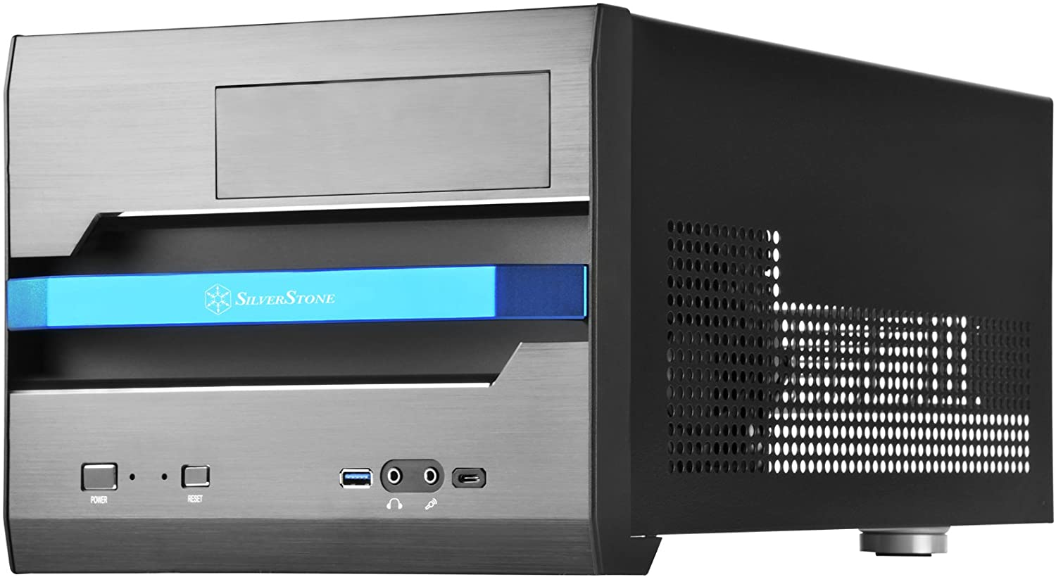 SilverStone Technology SST-SG12B-V2 Micro-ATX Small Form Factor with Aluminum Front Panel Cases