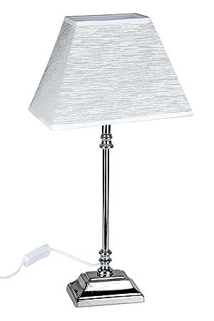 Tischleuchte Eckiger Schirm.Formano Tischlampe Edles Design Lampenfuß Metall Schirm