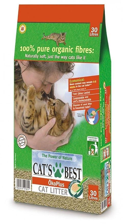 Arena para gatos aglutinante «Cat's Best Okoplus» ...