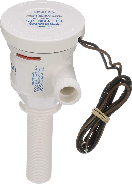 Attwood Tsunami Cartridge Aerator Pump 800 GPH 12 Volt  Livewell Bait 4650-7 MD