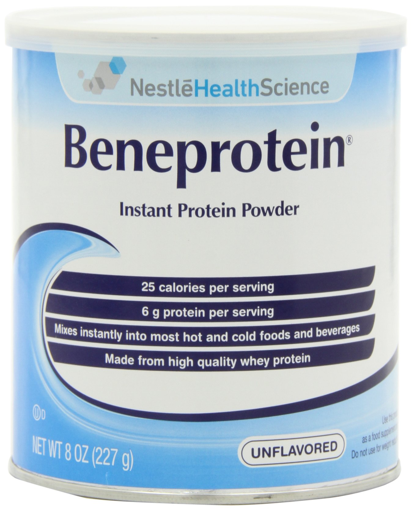 Beneprotein Instant Protein Powder, Unflavored, 8 oz (Pack of 6)