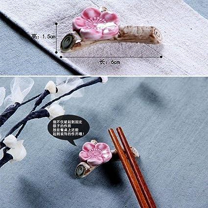 Holder Stand Elegant Blossom Flower Tableware Rest Spoon Fork Ceramic Ware