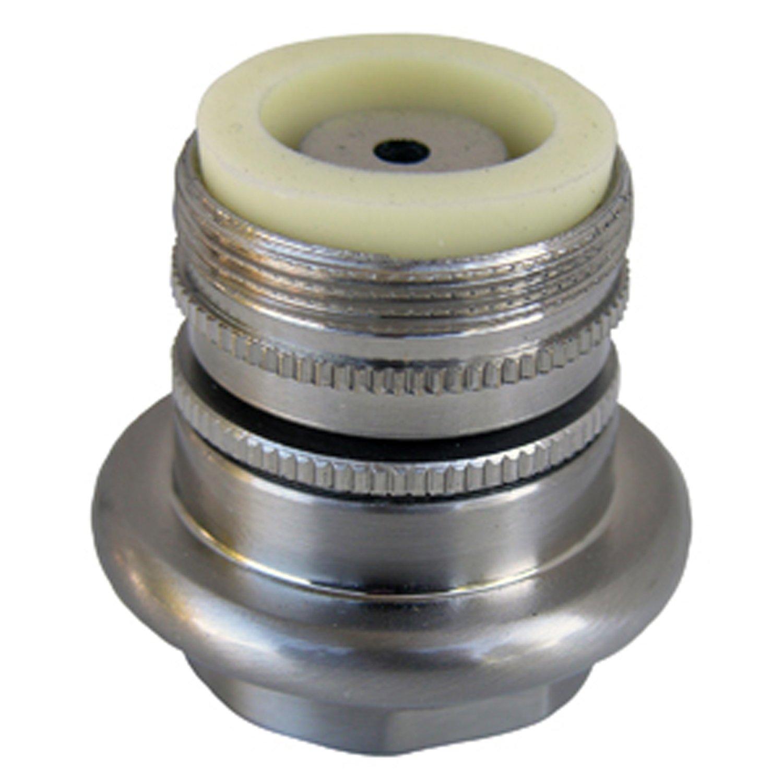 Simpatico 91091SN Brass Swivel Aerator Standard Female Thread with Male Thread Adapter, Satin Nickel