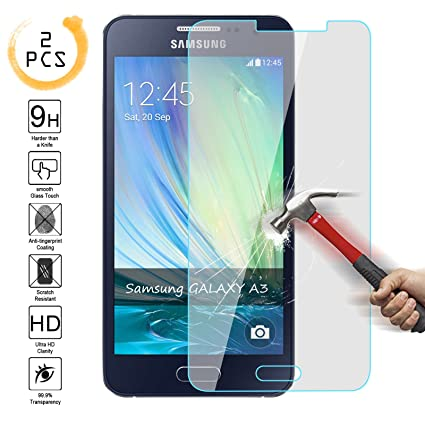 Amazon.com: Samsung A3 [2015 Edition] Protector de ...
