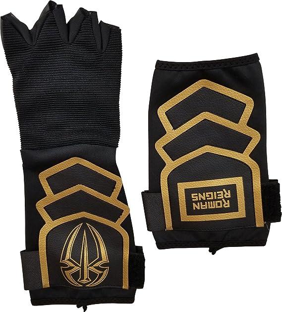 offerte esclusive retrò chiaro e distintivo WWE: Roman Reigns Black & Gold authentic Glove & armband Set