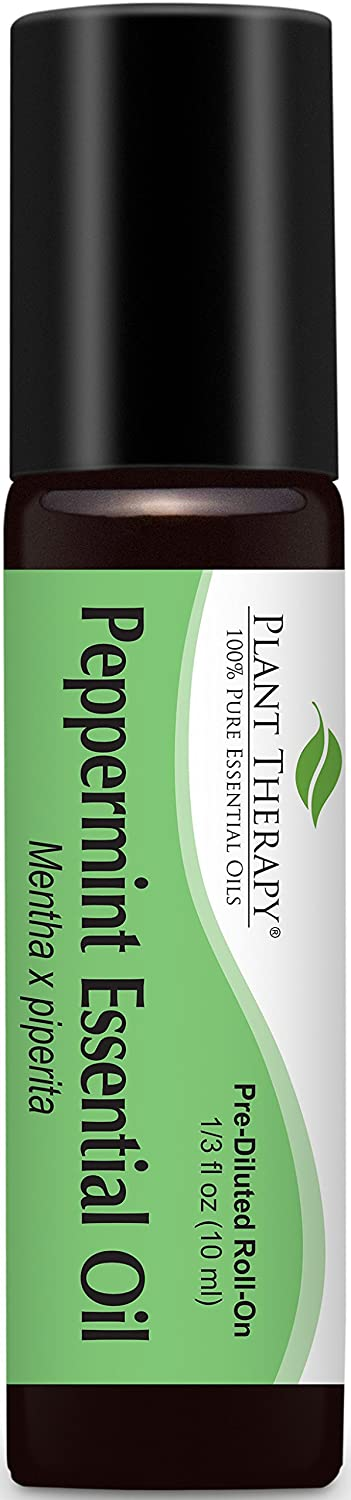 Plant Therapy Peppermint Pre-Diluted Roll-On 10 mL (1/3 oz) 100% Pure, Therapeutic Grade Plant Therapy Essential Oils