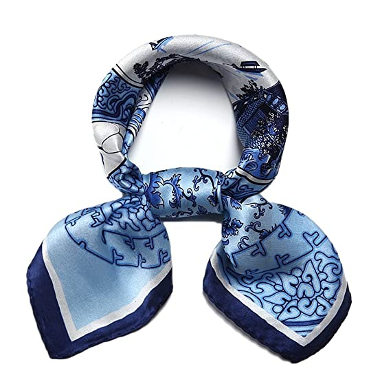 8d45a2320bf7 Only Faith 100% Mulberry Silk Handkerchief Head Neck Wrap Small Square  Scarf (co1)