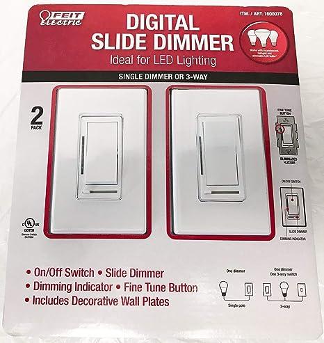 Feit Electric Digital Slide Dimmer Ideal for Led Lighting 2 Pack on