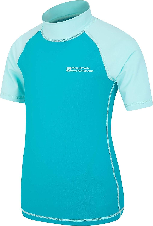 Camiseta t/érmica con protecci/ón Solar UPF50+ Camiseta t/érmica con Costuras Planas para ni/ños Mountain Warehouse Camiseta t/érmica de Manga Corta para ni/ños