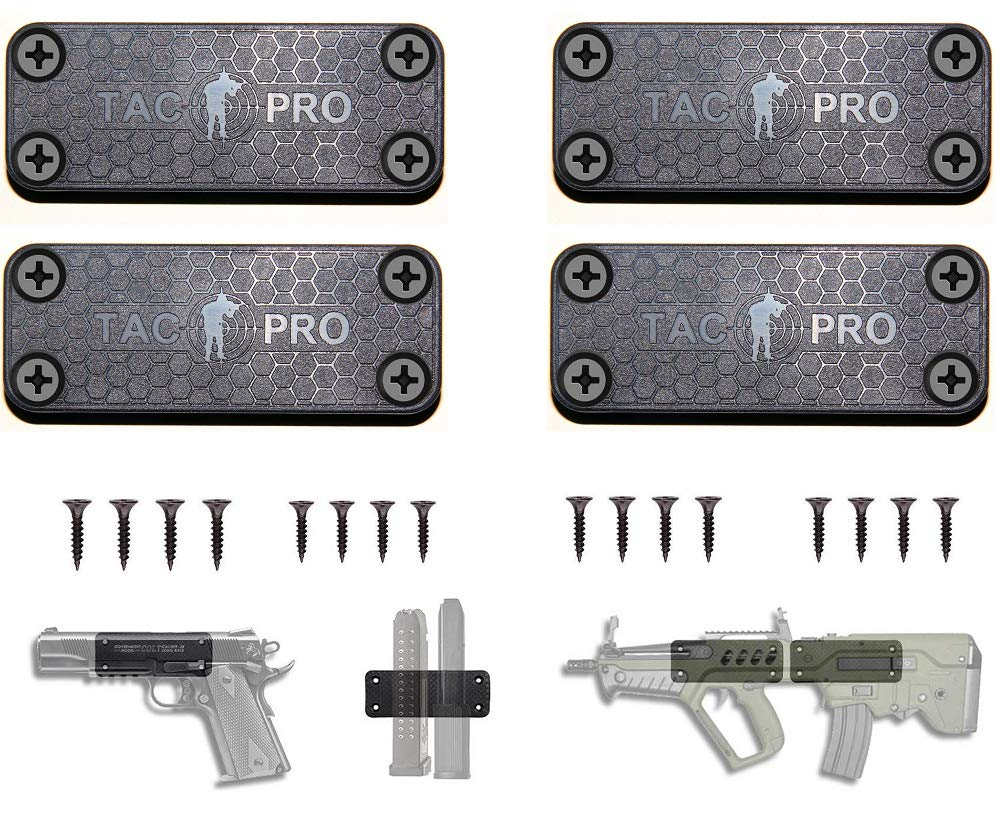 Tactical Pro Sports Tac Mag Gun Magnet with 50 lb Rating / 4 Packs by Tactical Pro Sports