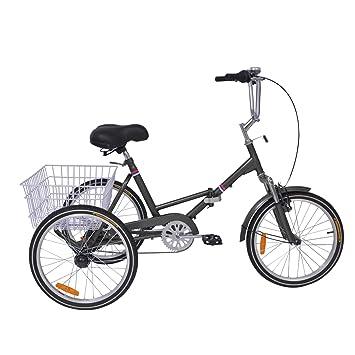 Amazon.com: H&ZT bicicleta de triciclo plegable para adultos ...