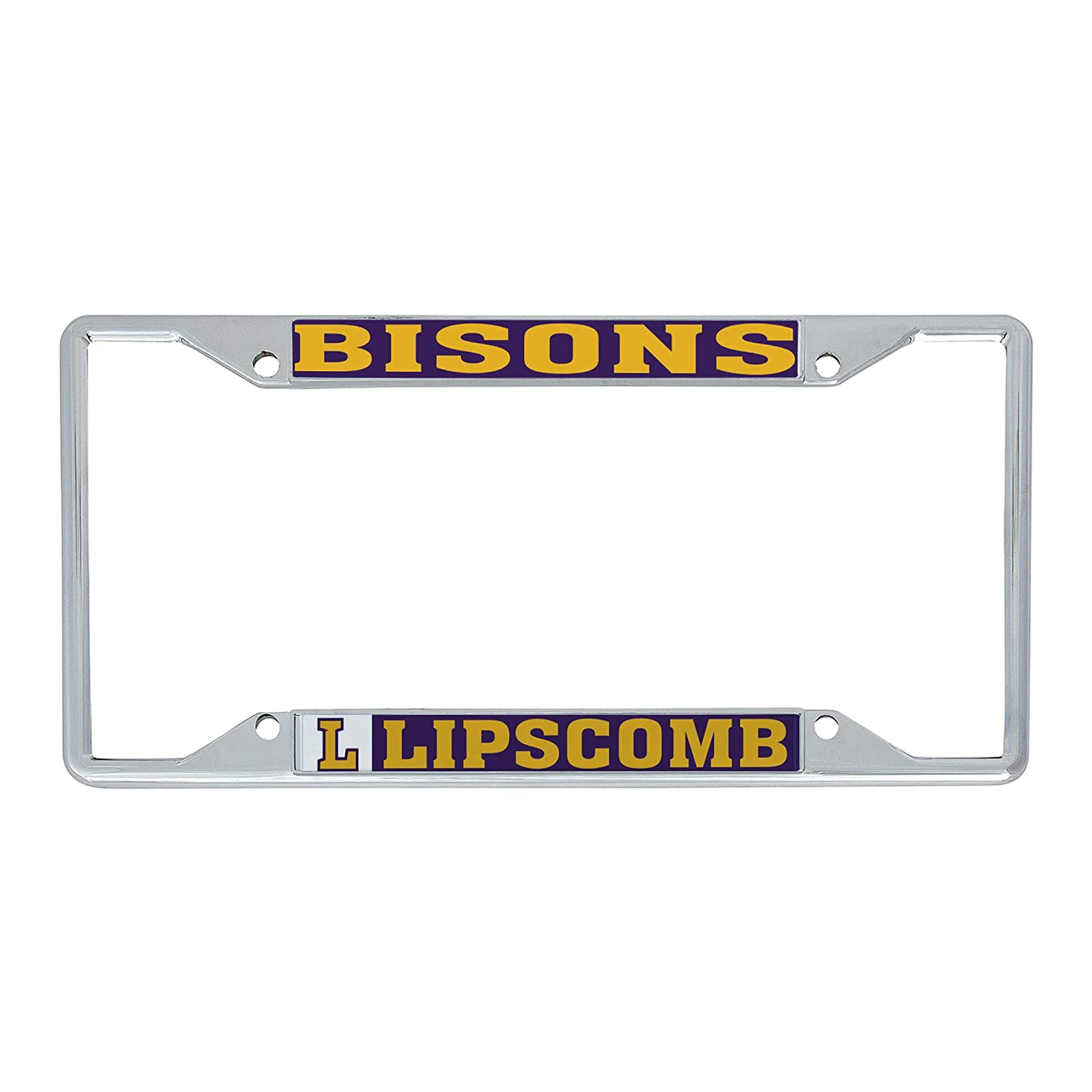 Desert Cactus Lipscomb University Bisons NCAA Metal License Plate Frame for Front Back of Car Officially Licensed Mascot