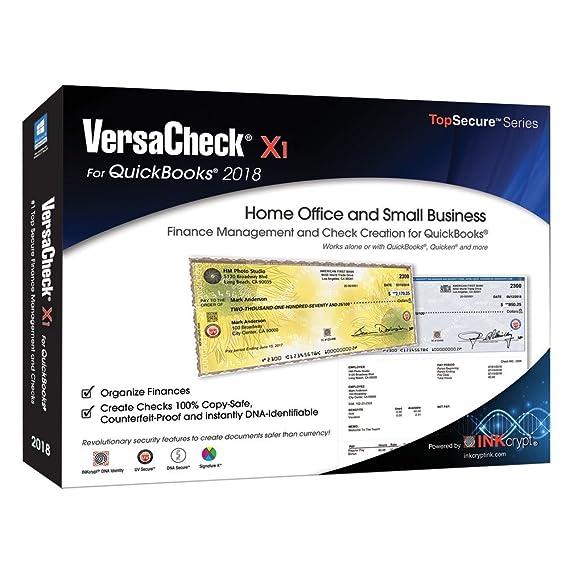 Amazon com: VersaCheck X1 2018 for QuickBooks - Finance