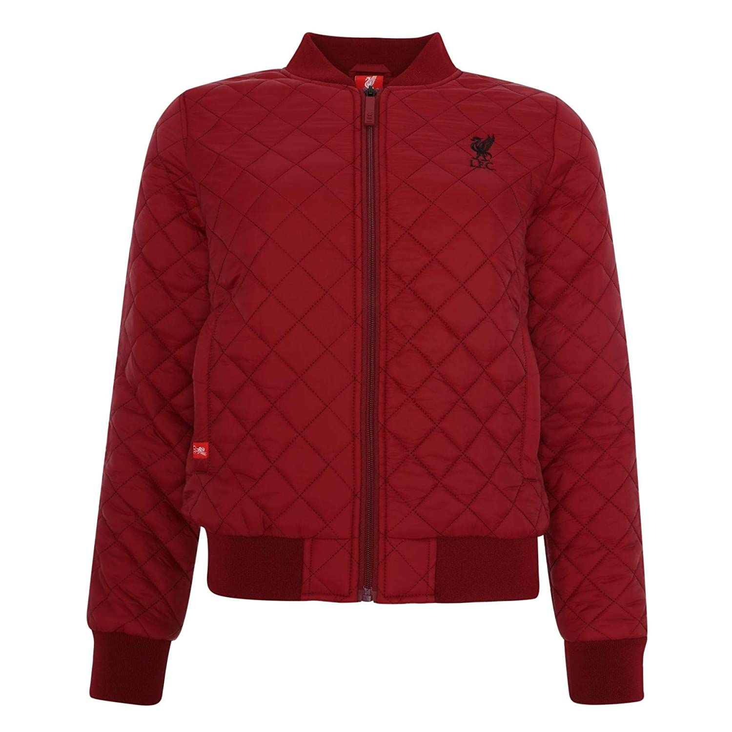 511576ec9 Liverpool FC Red Womens Football Quilted Bomber Jacket AW 18 19 LFC  Official  Amazon.co.uk  Clothing