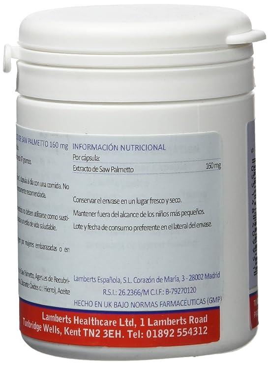 Lamberts Extracto de Saw Palmetto 160mg - 120 Tabletas: Amazon.es: Salud y cuidado personal