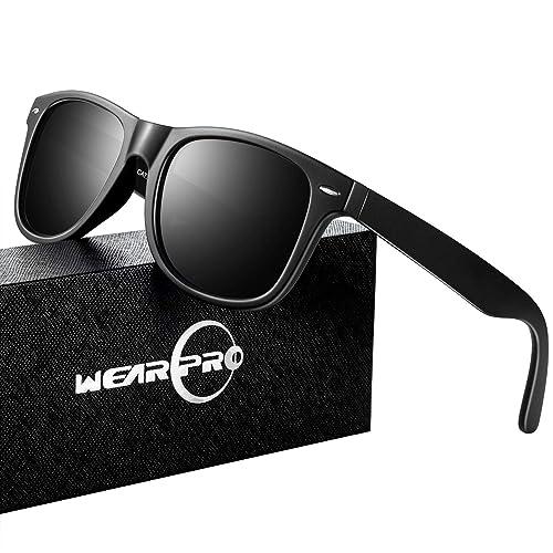 5cb77ff1d381 Mens Sunglasses for Men -wearpro Retro Vintage Polarized Sunglasses  WP1001(A Matte Black2,