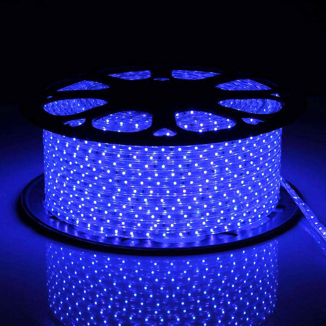 Solaura 150ft 110V 2-Wire Waterproof LED Rope Light Fit for Indoor and Outdoor Lighting, Decoration of Patio,Backyard,Garden,Trees,Party (Blue)
