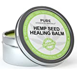 Natural Eczema & Psoriasis Treatment - Organic Hemp Seed Healing Balm Offers Relief From Dry & Cracked Skin, Eczema, Psoriasis, Dermatitis, Rosacea & All Common Skin Conditions, Best Natural Moisturizer & Hand Cream - 100% Natural, Vegan, Chemical & Fragrance Free - 30 Day Guarantee