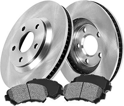 Front Max Brakes Premium OE Rotors with Carbon Ceramic Pads KT036841