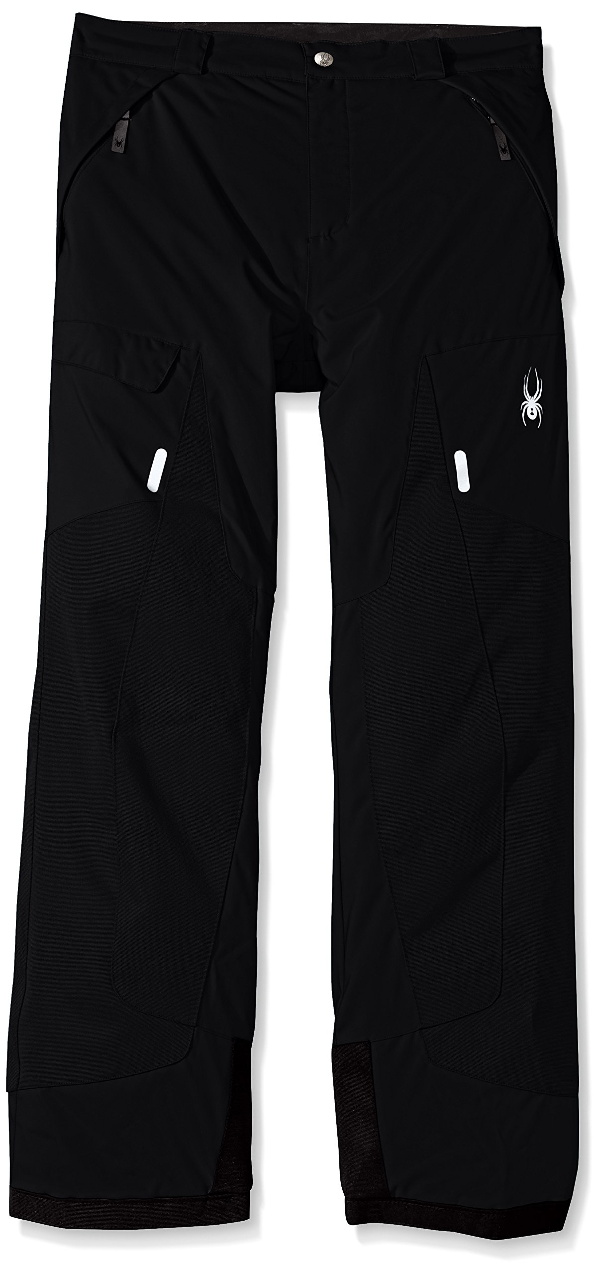 Spyder Boy's Action Ski Pant, Black, Size 16 by Spyder