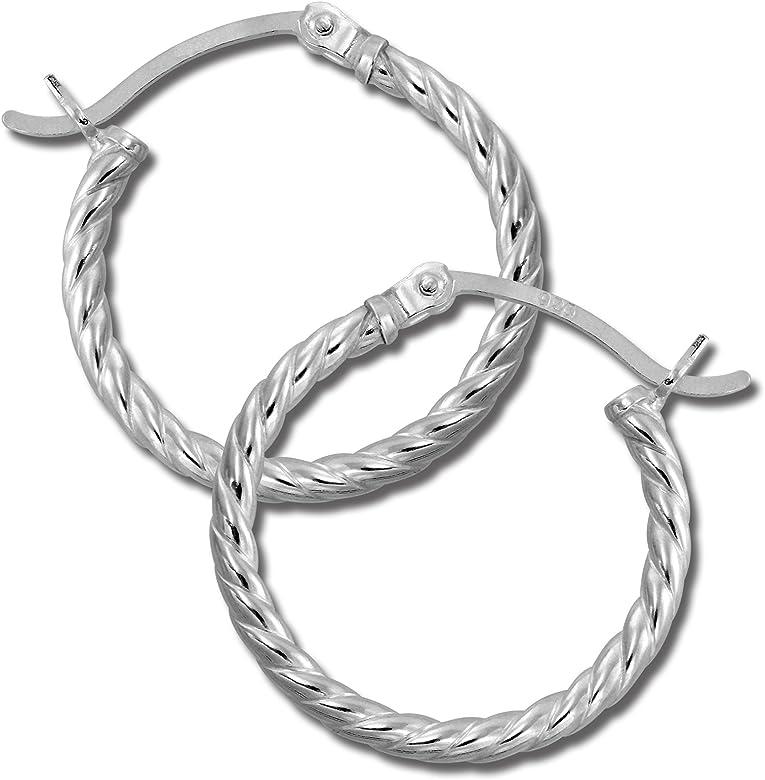 Muy elegante pendientes de plata//creolen-nuevo 25 mm-plata 925er