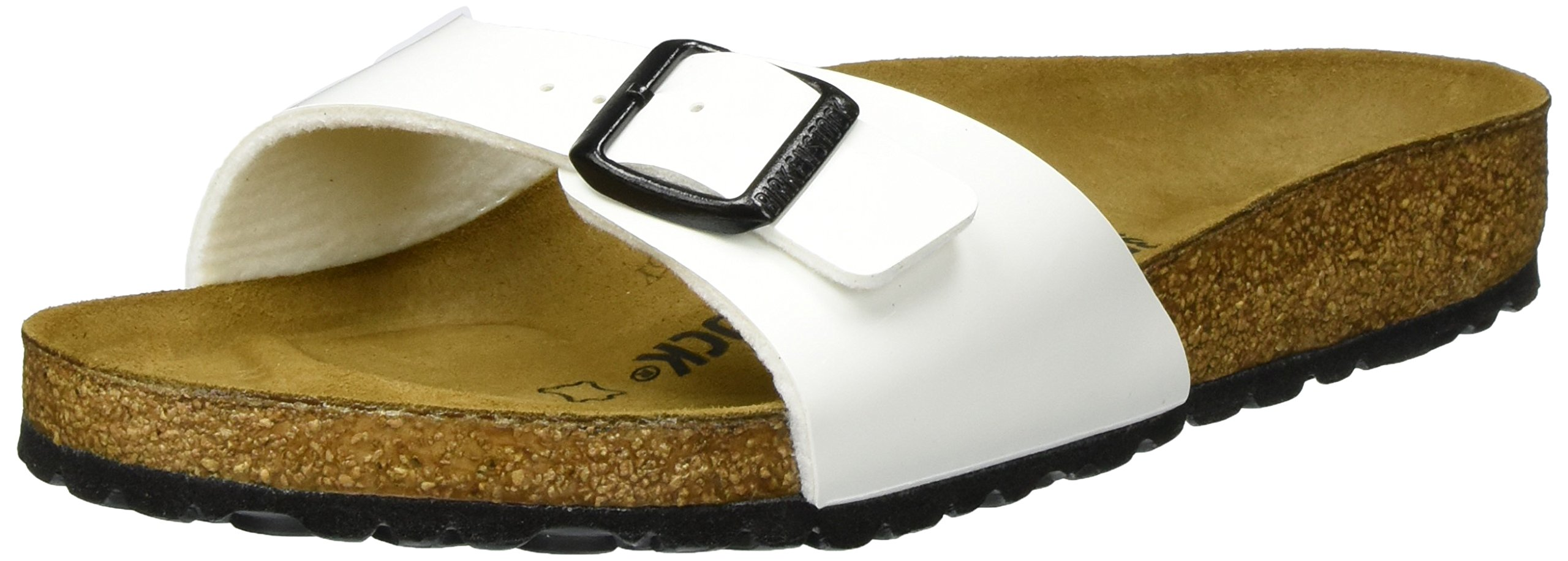 f17a96308925d4 Galleon - Birkenstock Sandals Madrid White Varnish L7 M5 38
