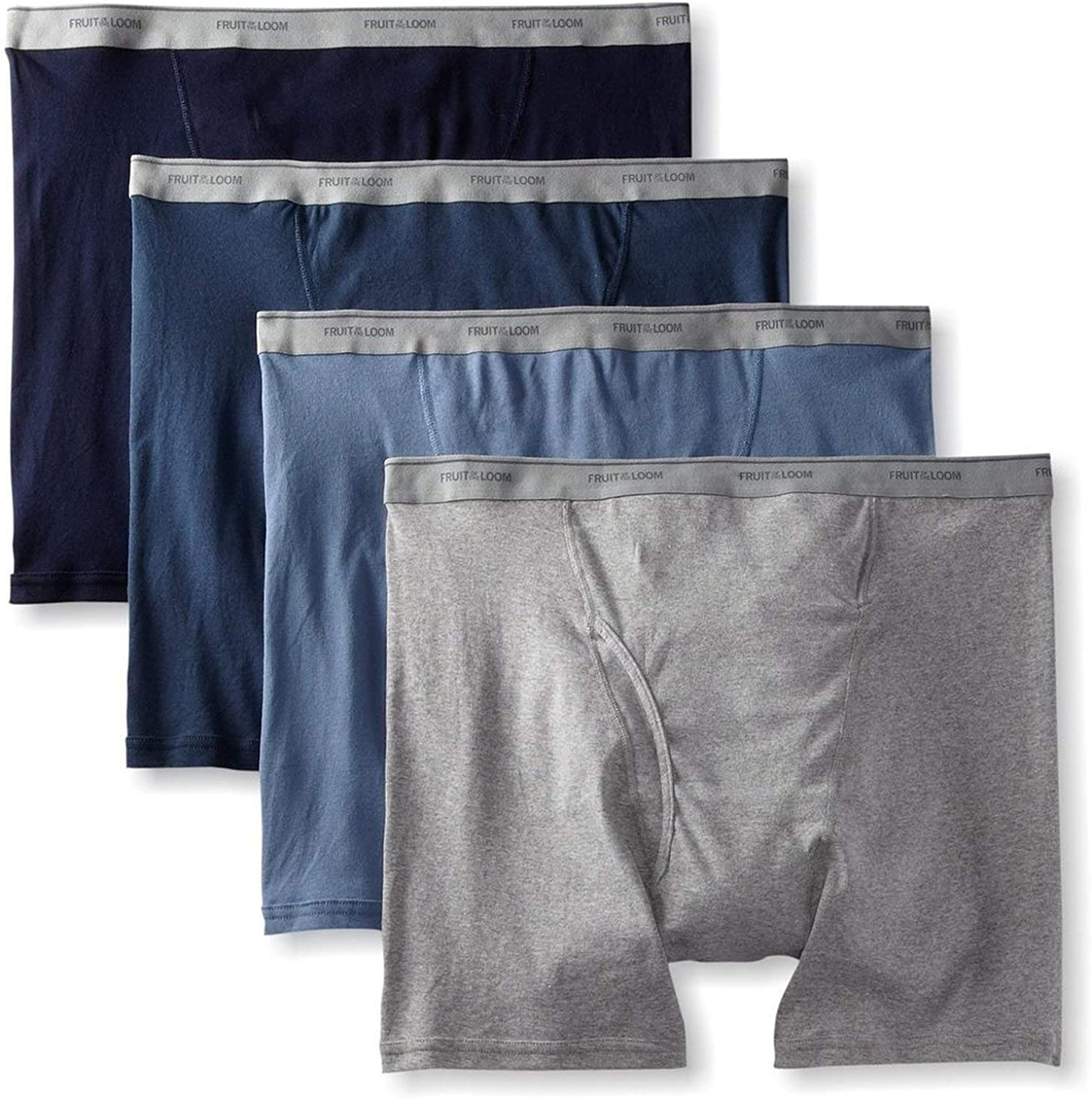 Fruit of the Loom Men's Boxer Briefs 100% Cotton Underwear
