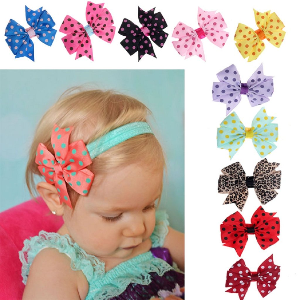 10PC Cute Photography Bowknot Babys Elastic Head band Hairband by FEITONG FEITONG666 Other case