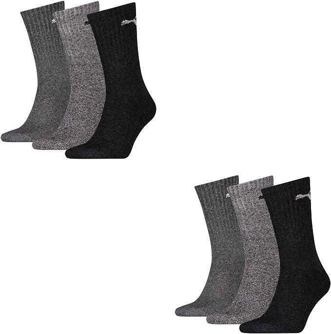 Calcetines deportivos Puma unisex, pack de 6 pares, unisex, 207 anthracite / grey, 43-46: Amazon.es: Ropa y accesorios