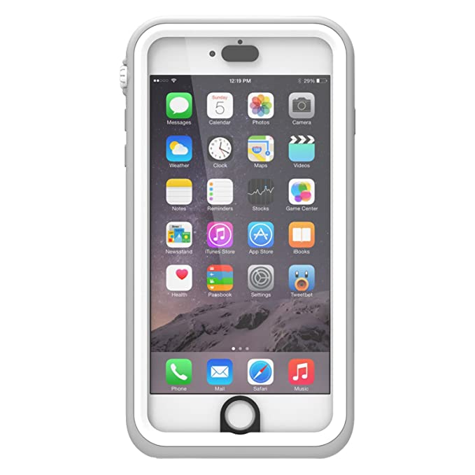 meet 1f761 2adc7 iPhone 6 Plus Waterproof Case, Shock Proof, Drop Proof by Catalyst for  Apple iPhone 6+ with High Touch Sensitivity ID (White & Mist Gray)