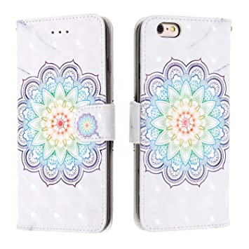 WIWJ Funda iPhone 6 Plus iPhone 6S Plus,3D Pintado PU Cuero ...