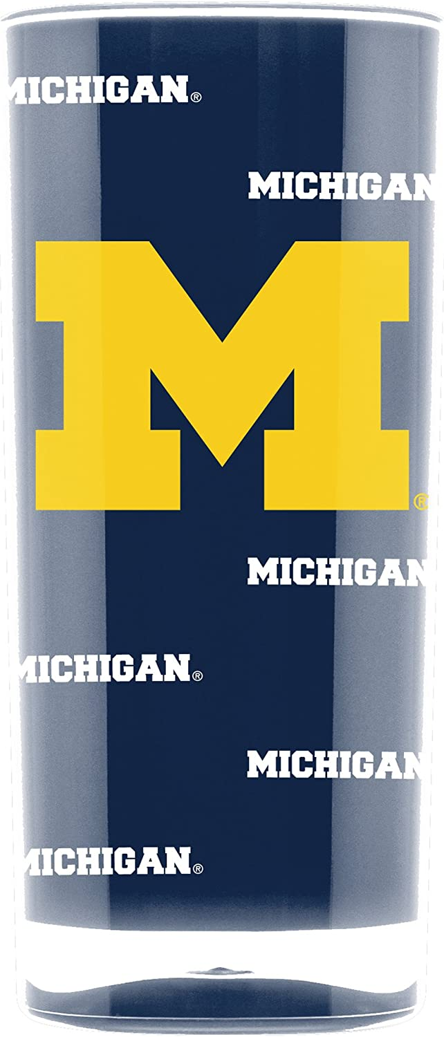 NCAA Michigan Wolverines 16oz Insulated Acrylic Square Tumbler