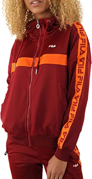 TALLA S. Fila Teela Track Hooded Zip, Chaqueta Deportiva
