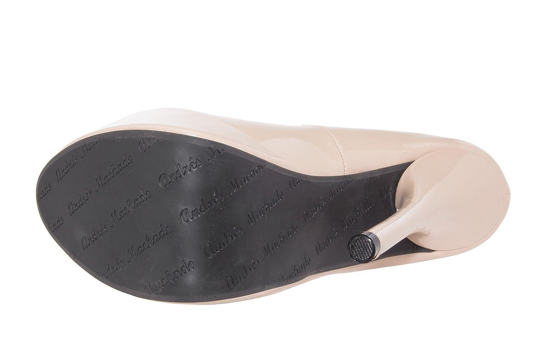 Andres Machado - AM453 - Wunderschöne High Heels mit 32 Plateau aus verschiedenen Materialien.EU 32 mit bis 35/42 bis 45 Lack Beige 17c392
