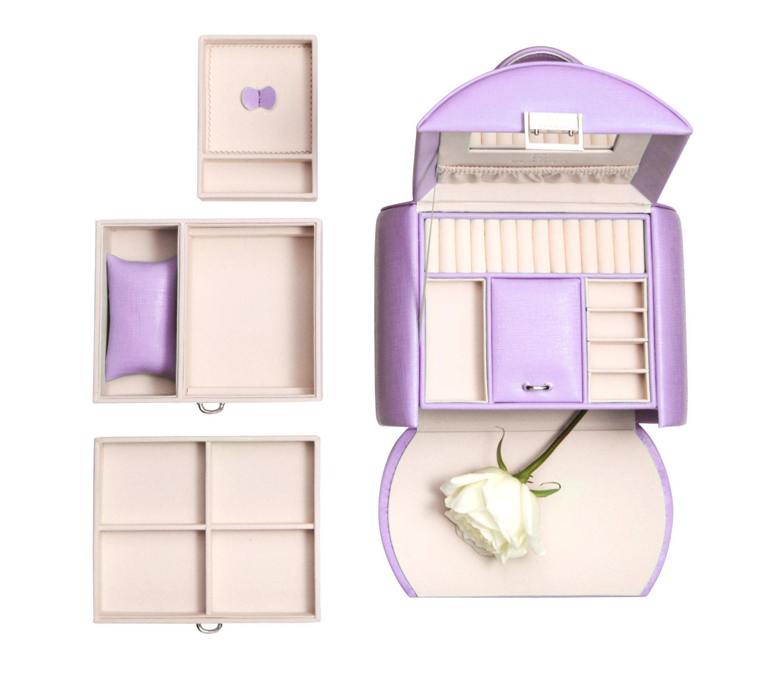Vlando Princess Style Jewelry Box from Netherlands Design Team, Fabulous Christmas Gift for Girls (Purple) by Vlando (Image #2)