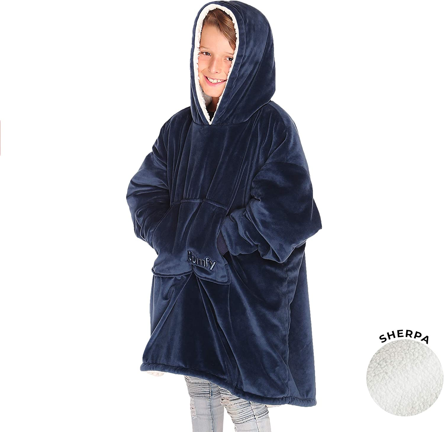 THE COMFY | The Original Oversized Sherpa Blanket for Kids, Seen On Shark Tank, One Size Fits All