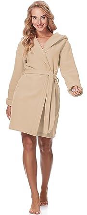 Merry Style Batas con Capucha Vestidos de Casa Ropa Mujer M4N3Q52 (Beige, XS)
